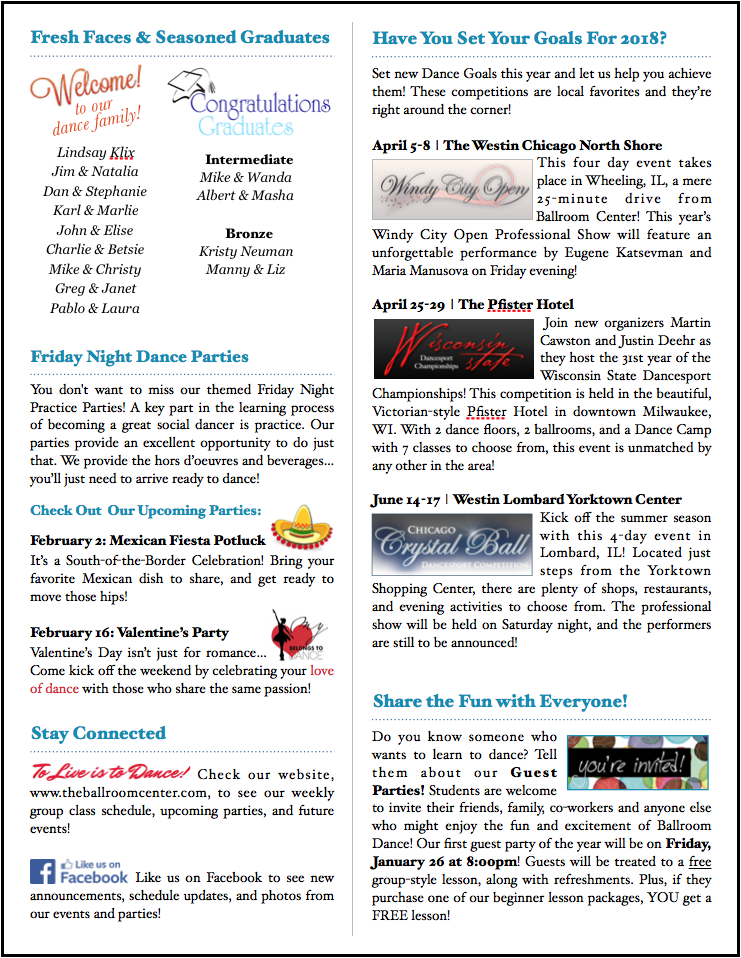 January 2018 Newsletter Page 2
